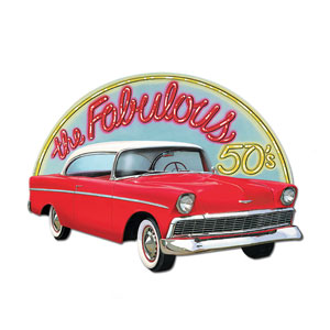 Fabulous 50's Sign - 25in