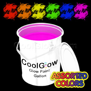 Glominex™ Glow Paint Assorted Gallons - 6
