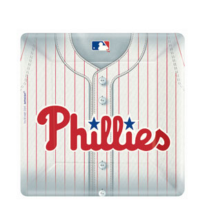Philadelphia Phillies Square 10 Inch Plates- 18ct