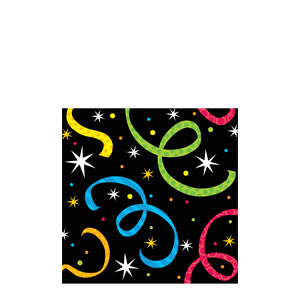 New Year Jazz Beverage Napkin