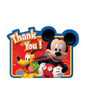 Mickey Thank You Cards- 8ct
