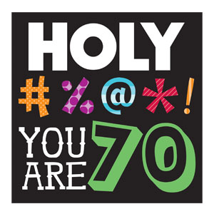 Holy Bleep You're 70 Luncheon Napkins - 16ct