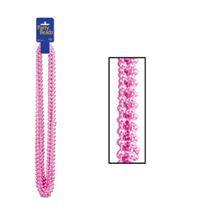 Pink Party Beads - 12ct