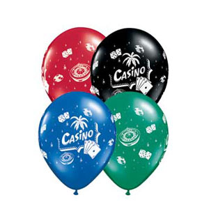 Casino Assorted Ballons - 11in