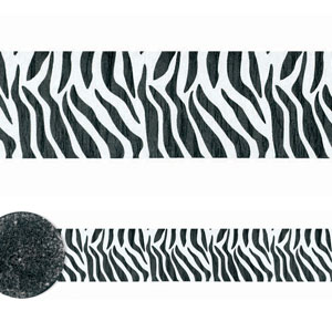 Zebra Stripes Printed Crepe Streamers 81 ft
