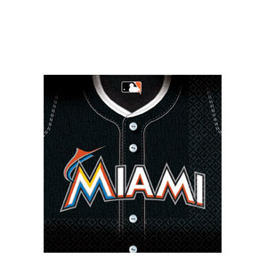 Miami Marlins Luncheon Napkins- 36ct
