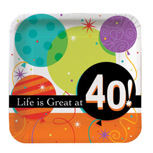 Life is Great at 40 Dinner Plates - 8ct