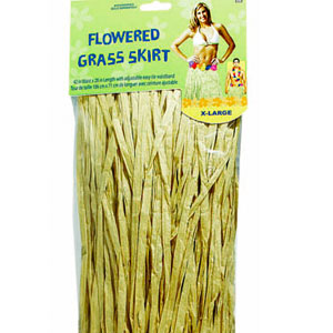 Adult XL Flowered Grass Skirt