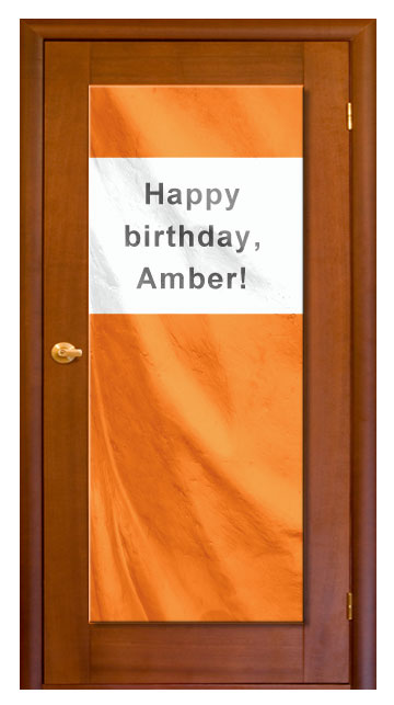 Orange - Custom Door Banner