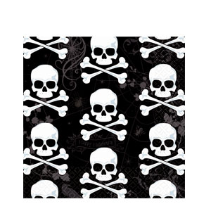 Skull and Bone Luncheon Napkins- 36ct