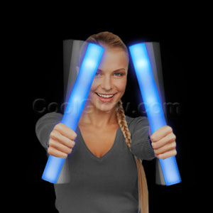 Fun Central G28 LED Light Up Foam Stick Baton Supreme - Blue