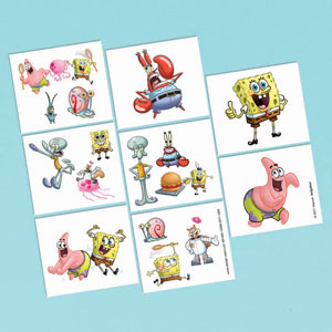 SpongeBob Tattoo Favors- 16ct