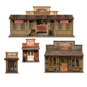 Wild West Town Props- 4ct