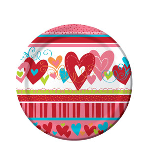 Happy Heart 7 Inch Plates