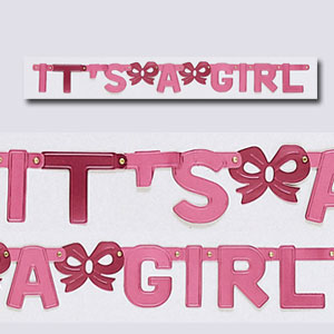 It's A Girl Banners