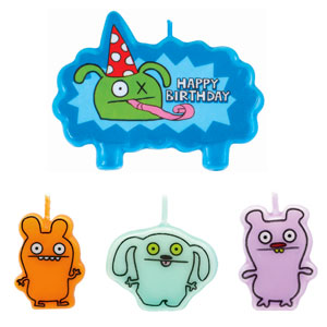 Ugly Doll Mini Molded Cake Candles- 4ct