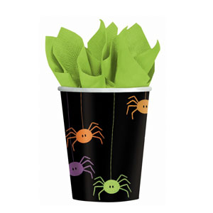 Spider Frenzy 9 oz. Cups- 8ct