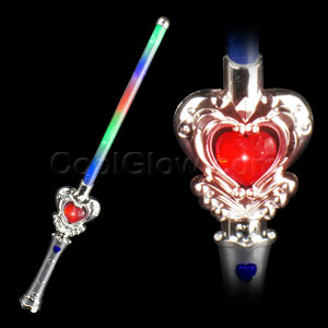 LED Light Up Heart Wand