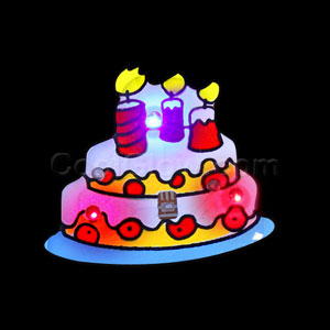 Flashing Birthday Cake Blinky