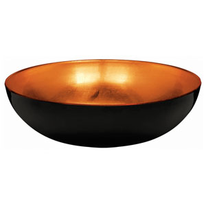Large Orange and Black Bowl- 10in