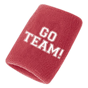 Go Team Sweatbands - Red