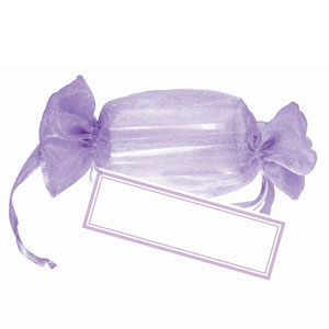 Drawstring Wrapper Favor Kit - Lavender 12 Ct