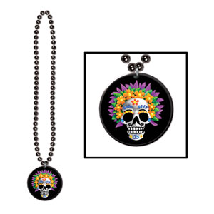Day of the Dead Beads w Medallion 1