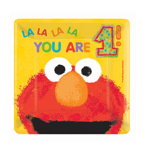 Elmo Luncheon Plates - 18ct