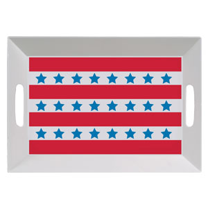 Patriotic 14 Inch Large Tray