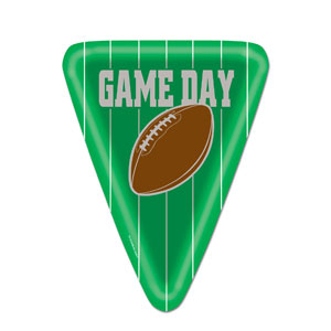 Game Day 10in Football Plates- 8ct