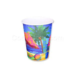 Beach Surf 9 oz. Cups- 8ct