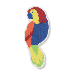 Parrot Plastic Glitter Cutout- 12in