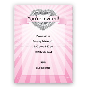 Diamond Heart - Custom Invitations