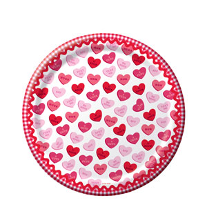 Sweet Greetings 7 Inch Plates