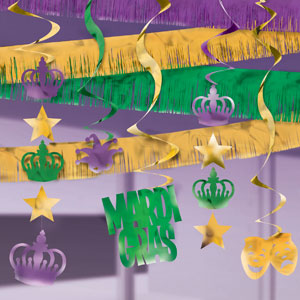 Mardi Gras Ceiling Decoration Kit