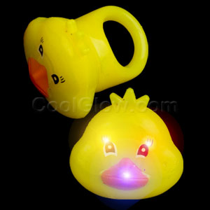 LED Jelly Duck Rings - Yellow