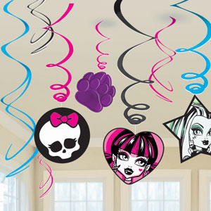Monster High Swirls- 12ct