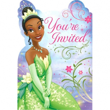 Disney Tiana Invitations