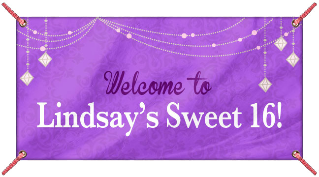 Purple Glitz - Custom Banner