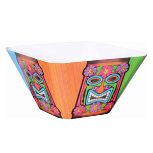 Tiki Time Large Square Bowl- 10in