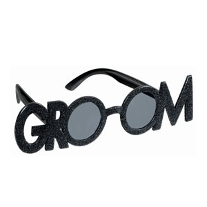 Groom Glitter Molded Sunglasses