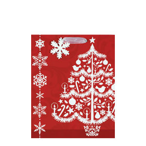 Sophisticated Christmas Gift Bag- 12 Inch