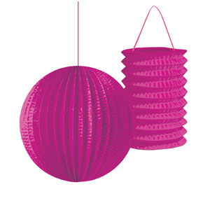 Lantern Assortment - Hot Magenta