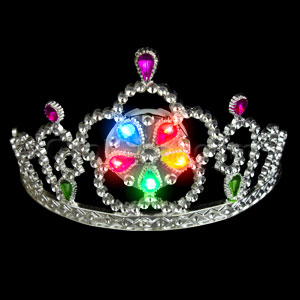 Fun Central O968 LED Light Up Light Up Tiara - Multicolor