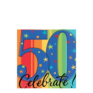 A Year to Celebrate 50 Beverage Napkins- 16ct