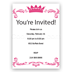 Elegant Tiara - Custom Invitations