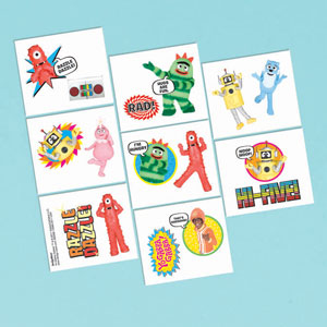Yo Gabba Gabba Tattoo Favors- 16ct
