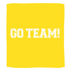 Go Team Towel - Yellow