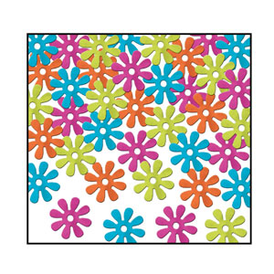 Retro Flowers Confetti - 1oz