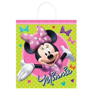 Disney Minnie Mouse Plastic Handle Treat Bag- 16in